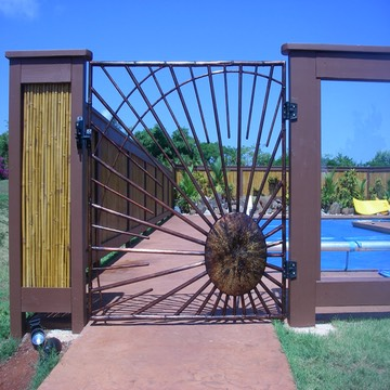 Copper Sunburst Pool Gate